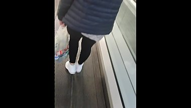 Step son in supermarket pull of Step mom leggings Fucking and cumming on her pussy