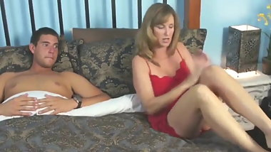 Sharing hotel bed with MILF